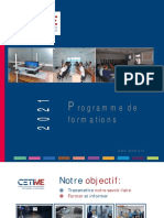 Programme de Formation 2021 Du CETIME Version Juin 2021-TBs.14.06.2021-Txt-8131Ko