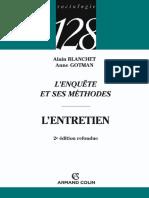 Alain Blanchet_ Anne Gotman - L'enquête et ses méthodes _ l'entretien-Armand Colin (2007)