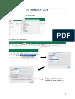 Informatique Excel