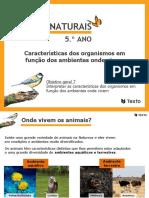 Apresentação 7 - Caraterísticas dos organismos em função dos ambientes onde vivem