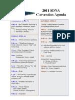 2011 SDNA Convention Agenda