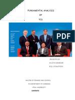 FUNDAMENTAL ANALYSIS    OF TCS