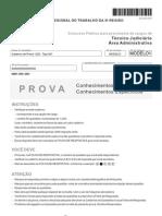 Prova-U20-Tipo-001_TRT3_Tecnico_Judiciario_Administrativa_FCC_2009