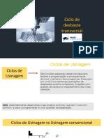 Aula Remota 06 - Ciclo de Desbaste transversal - Torneamento