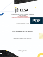 Modelo PDM-Dissertação PPGI