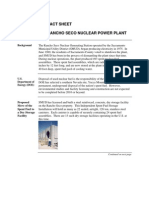 DOE HAS A LOT OF WORK TO DO IN DEALING WITH USED SPENT NUCLEAR FUEL RODS--RANCHO SECO FACT SHEET
