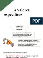 Semana 8 TITULOS VALORES ESPECIFICOS