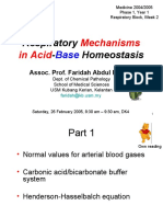 Respiratory Mechanisms in Acid-Base Homeostasis Yr1 MD 26Feb2005
