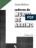 Caderno de Muros de Arrimo 2ª Edição Antonio Moliterno