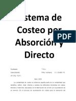 Sistema de Costeo Por Absorción y Directo