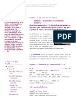 Actividades Divertidas de Inglés._ Taller #3. Referentes (Transitional Markers)