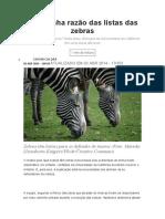 A Estranha Razão Das Listas Das Zebras