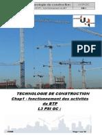 Technologie - Chap1 - Fonctionnement Des Activités Du BTP 2020-2021