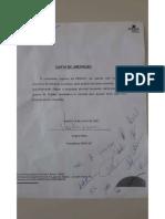 Carta de liberação