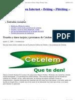 Fraudes y timos tarjeta y prestamos de Cetelem « Fraudes Online en Internet – fishing – Phishing – Scams