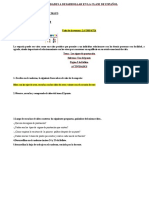 Actividades a Desarrollar en La Clase de Español 3 Semana,,,,,,,,,,,,,,,,,