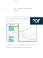 Download 35 Staircase Analysis and Design Excel Sheet