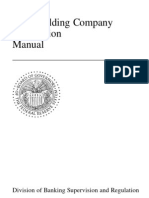 bank holding company act supervision manual