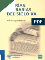 Dominguez Caparros Jose  Teorias Literarias Del Siglo XX