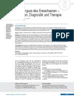 Pleuraerguss Des Erwachsenen, Ursachen, Diagnostik Und Therapie