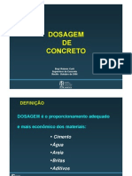 3 - Dosagem de concreto