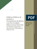 Políticas Públicas de Inclusão e Permanência de Alunos com Necessidades Educacionais Especiais no Ensino Superior