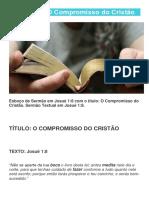 Josue 1 Compromisso Do Cristao
