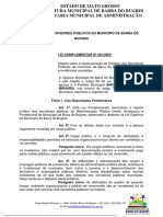 Lei Complementar 01-2005 Barra Do Bugres