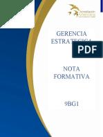 NOTA FORMATIVA GERENCIA ESTRATEGICA