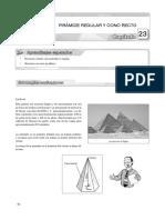 23 Piramide Regular y Cono Recto
