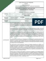 Informe Programa de Formación Complementaria SERVICIO AL CIUDADANO