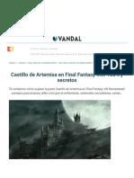 Castillo de Artemisa en Final Fantasy VIII_ 100% y secretos