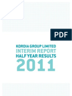 Kordia Interim Report 2011