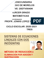1. Sistemas de ecuaciones-método Reducción 2°