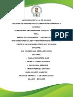 Beneficios Tributarios y Contables de Las Organizaciones Del Sector No Financiero Que Forman Parte de La Ecnonomía Popular y Solidaría