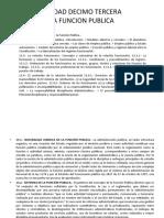UNIDAD DECIMO TERCERA.- LA FUNCION PUBLICA