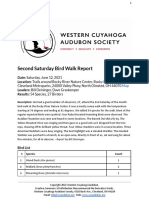 Second Saturday Bird Walk June 12, 2021 at Rocky River Nature Center Report