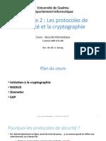 Chapitre 2 Les Protocoles de Sécurité Et La Cryptographie