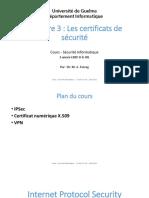 Cours 3 Certificats de Sécurité