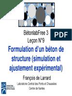 Béton Lab leçon 9