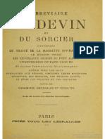 1895 Anonymous Breviare Du Devin Et Sorcier