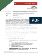 Norma n.º 020-2020, de 09-11-2020 - Caso Confoirmado, Caso ossível , caso provável, critérios