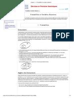 Chapitre 1 — Probabilités et variables aléatoires