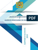 Rapport Agence Judiciaire 2015