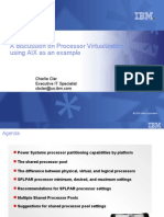 Processor Virtualization using AIX