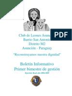 revista informativa club de leones