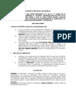 001 Contrato Individual de Trabajo