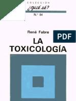 Fabre Rene - La Toxicologia