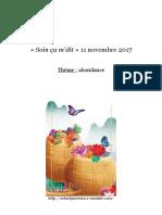 soin-abondance-ça-mdit-11-novembre-2017