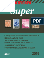 Catalogo Francobolli Unificato Super 2019